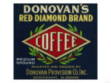 Donovan's Coffee Label - Birmingham  AL