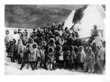 Eskimo School Children in Alaska Photograph - Alaska