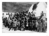 Eskimo School Children in Alaska Photograph - Alaska