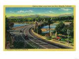 Highway Bridge across Santa Ana River - Riverside  CA
