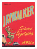 Jaywalker Vegetable Label - Los Angeles  CA