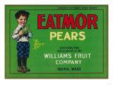 Eatmor Pear Crate Label - Yakima  WA