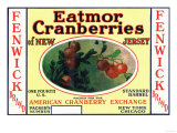 Fenwick Eatmor Cranberries Brand Label