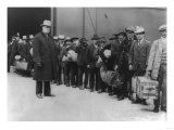 Immigrants Going to Ellis Island Photograph - New York  NY