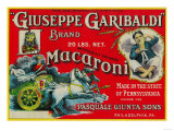 Giuseppe Garibaldi Macaroni Label - Philadelphia  PA
