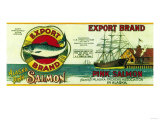 Export Salmon Can Label - Alaska
