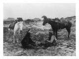 Cowboy and Navaho Indian Playing Cards Photograph