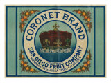 Coronet Lemon Label - Chula Vista  CA
