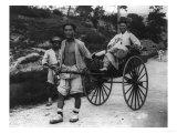 Korean Aristocrat Riding in a Rickshaw Photograph - Korea