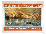 Grand Naval Spectacle Madison Square Garden Poster