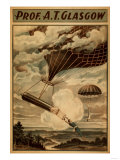 Glasgow Hot Air Balloon Circus Theatre Poster