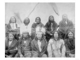Lakota Indian Chiefs who Met General Miles to End Indian War Photograph - Pine Ridge  SD
