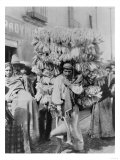 Man Selling Corn Husks for Wrapping Paper Photograph - Mexico