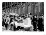 Fans buying hot dogs at Ebbets Field  Brooklyn Dodgers  Baseball Photo - New York  NY