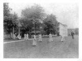 Girls Play Croquet at Carlisle Indian School Photograph - Carlisle  PA