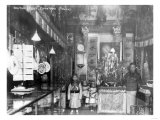 Men and Children in Chinatown Shop Photograph - New York  NY