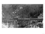 View of a Western Pacific Train on a Bridge - Plumas County  CA