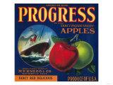 Progress Apple Crate Label - Watsonville  CA