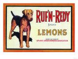 Ruf n' Redy Lemon Label - Upland  CA
