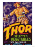 Thor Vegetable Label - Holtville  CA