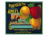 Portola Apple Crate Label - San Francisco  CA