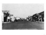 Street Scene  View of a Shell Gas Station - Kennewick  WA