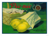 Picnic Lemon Label - Whittier  CA