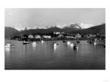 Town View from Water  Fishing Boats - Petersburg  AK