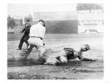 New York Yankee player slides into Base Photograph - New York  NY