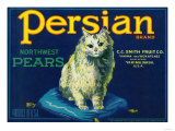 Persian Pear Crate Label - Yakima  WA