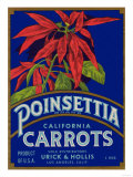 Poinsettia Carrot Label - Los Angeles  CA