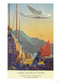 Pan-American Clipper Flying Over China - Hong Kong  China