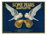 Some Pears Pear Crate Label - Napa  CA