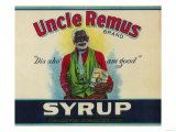 Uncle Remus Syrup Label - Cairo  GA