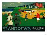 St. Andrews Vintage Poster - Europe Reproduction d'art par Lantern Press