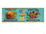 Tiger Lily Peach Label - San Francisco  CA
