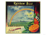 Rainbow Orange Label - Lindsay  CA