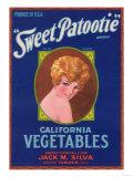 Sweet Patootie Vegetable Label - Turlock  CA
