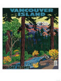 Vancouver Island Advertising Poster - Vancouver Island  Canada
