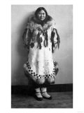 Newarluk  an Eskimo Belle in Nome  Alaska Photograph - Nome  AK
