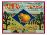 Palmitas Pear Crate Label - Antelope Valley  CA