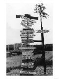Signpost at Watson Lake  Alaska on Alaska Highway Photograph - Watson Lake  AK