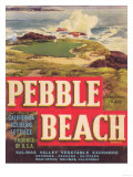 Pebble Beach Lettuce Label - Salinas  CA