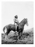 Nez Perce Indian on Horseback Edward Curtis Photograph