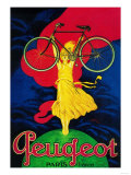 Peugeot Bicycle Vintage Poster - Europe