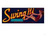 Swing Hi Peach Label - Fresno  CA