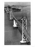 San Francisco  CA Aerial View of Oakland Bay Bridge Photograph - San Francisco  CA