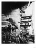 Ship Construction in Germany Photograph - Hamburg  Germany