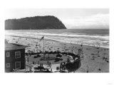 Seaside  Oregon Beach Scene from Air Photograph - Seaside  OR
