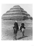 Soldiers on Camels and Step Pyramid Photograph - Egypt